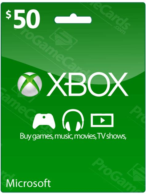 printable xbox gift card 50 xbox live credit voucher