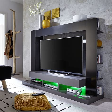 wohnzimmer wand schwarz tv w 228 nde kaufen m 246 bel suchmaschine ladendirekt de