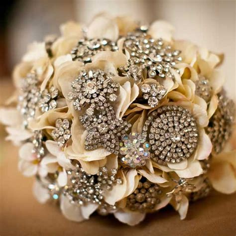 Wedding Bouquet Vintage Brooches by Diy Bridal Guide Brooch Bouquet Someday