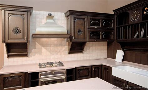 dark walnut kitchen cabinets pictures of kitchens traditional dark wood kitchens