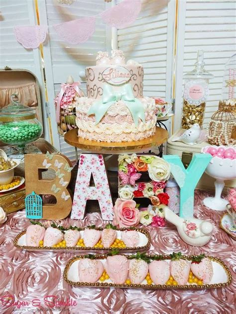 vintage retro baby shower ideas