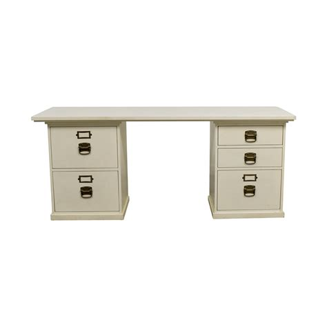 pottery barn white desk used for sale