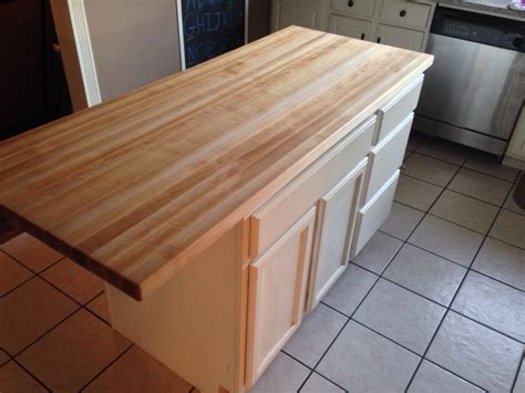 Kitchen Island With Butcher Block Top Clear Malple Butcher Block For An Island Counter Top With