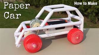 How To Make A Car With Paper - how to make a paper car electric powered car easy to