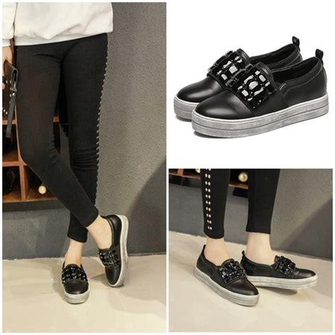 Sepatu Import Fashion by Jual Shs2582 Black Sepatu Fashion Import Grosirimpor