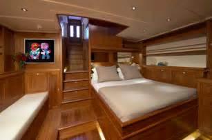 interior of the stunning lionheart yacht by hoek design