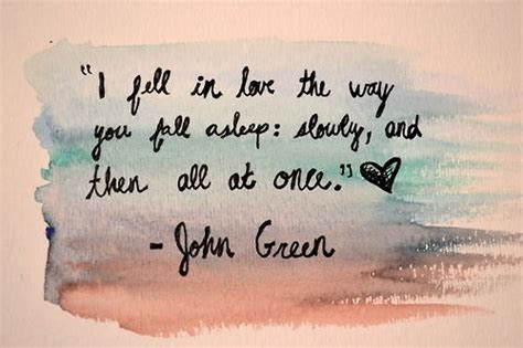 the way you fall asleep i fell in love