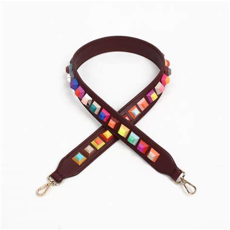 Longstrap Tali Tas Kekinian jual tas tali panjang rivet square premium 90 x 4 cm brown murah kwalitas