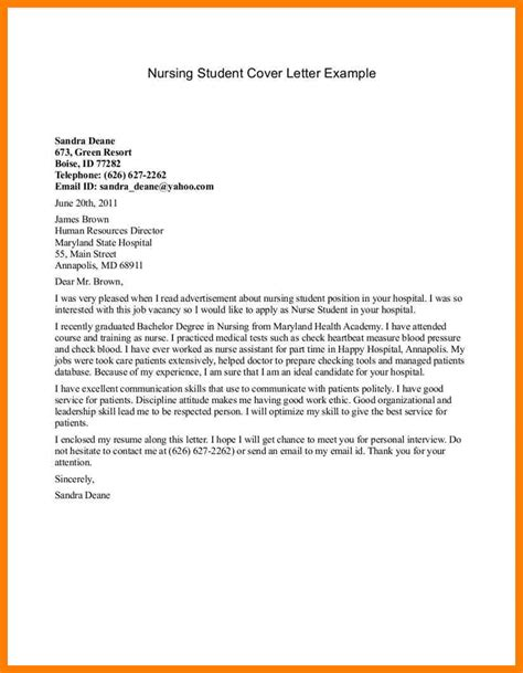 Sle Cover Letter For College Application college application cover letter 25 images 5 college