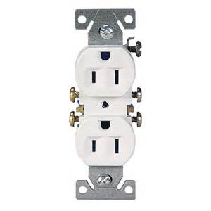 shop cooper wiring devices 10 pack 15 white duplex electrical outlet at lowes