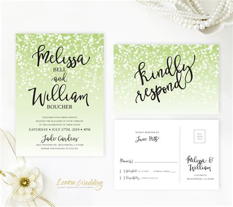 green and black wedding invitations green and black wedding invitations lemonwedding