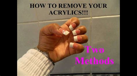 How To Remove Fingernail From by How To Remove Acrylic Nails Two Methods