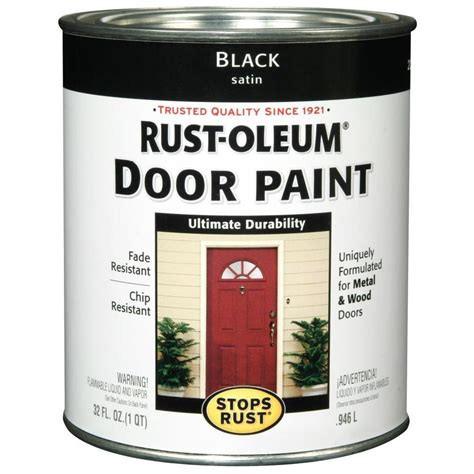 shop rust oleum stops rust black satin satin based enamel interior exterior paint actual