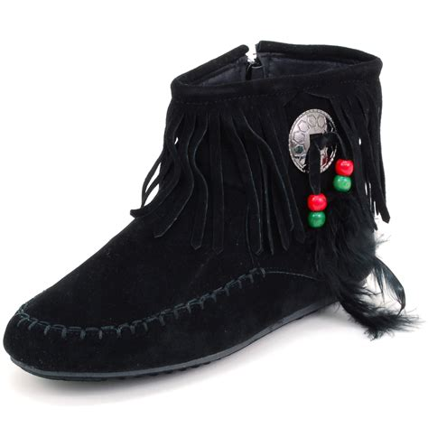 womans shoe boots womens fringe moccasins flat shoes zipper ankle boots faux
