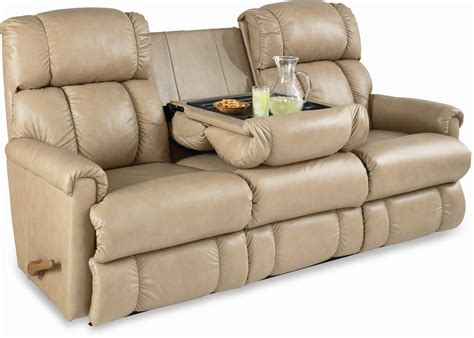 reclining sofa with drop console quot quot reclining sofa motion with drop table
