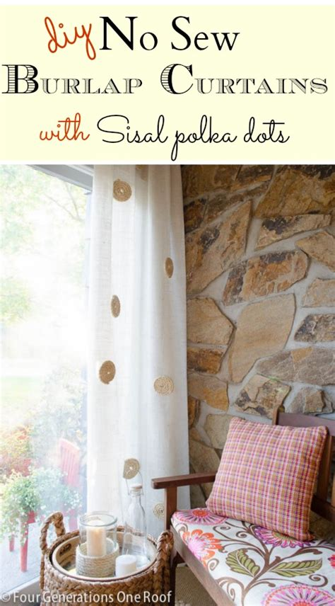 no sew burlap curtains no sew diy white burlap curtains four generations one roof