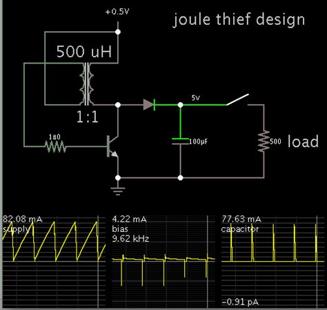 joule thief with capacitor solar cell joule thief and capacitor