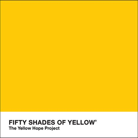 yellow shades fifty shades of yellow the yellow hope project