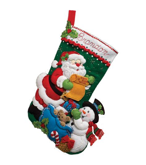 felt applique kits bucilla felt applique kit santa s list jo