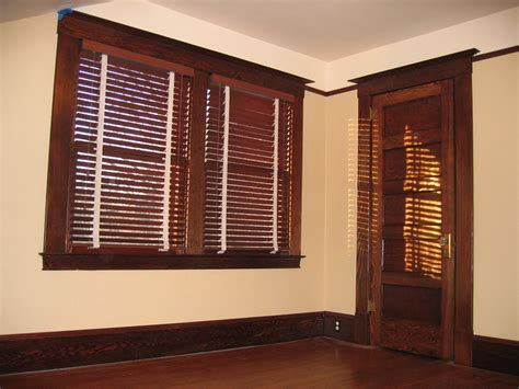 brown with wood trim white blinds with brown trim search stained