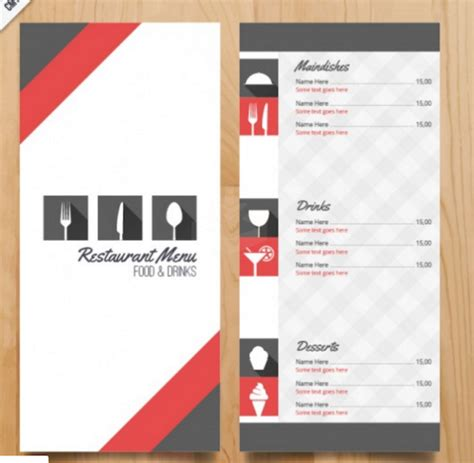 restaurant menu card templates blank restaurant menu template word calendar template