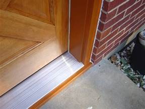 How To Replace A Threshold On An Exterior Door Exterior Door Threshold Installation Interior Exterior Doors Design Homeofficedecoration