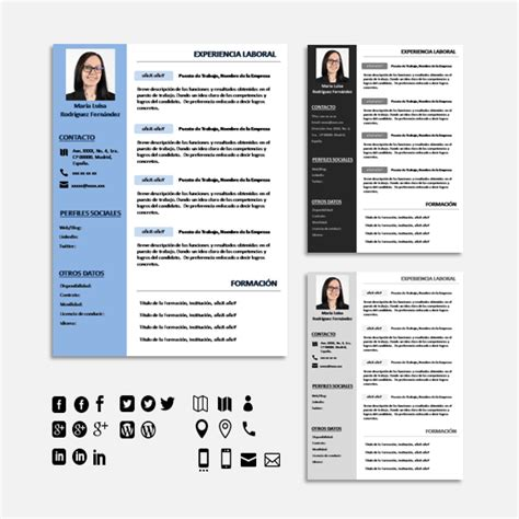 Plantilla De Curriculum Infografico 50 Tipos De Curriculum Vitae Para Diferenciarte De Tu Competencia Con 2 S 250 Per Packs
