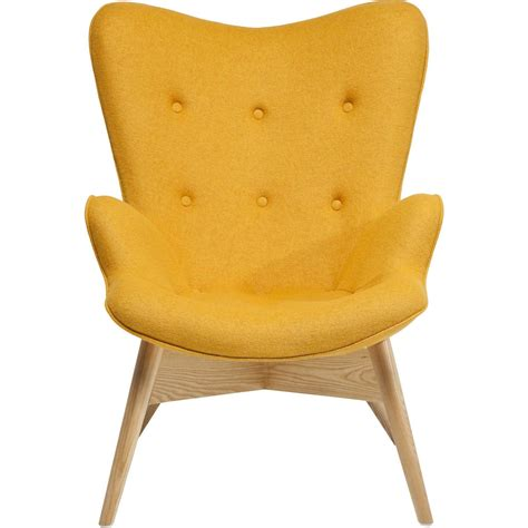 Fauteuil scandinave jaune   Angels Wings eco   Kare Design