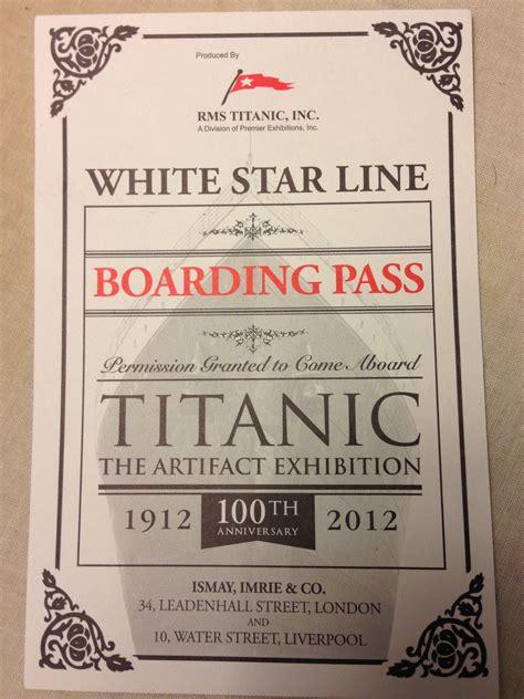 printable titanic tickets titanic beyond the hourglass