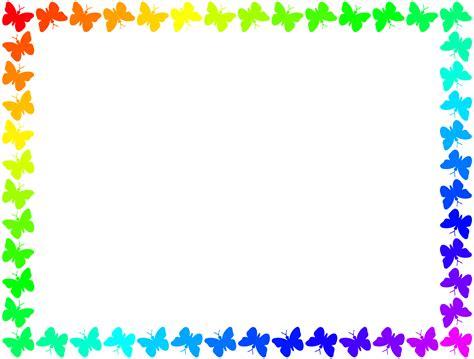cornici colorate da stare 48 butterfly borders and frames clip