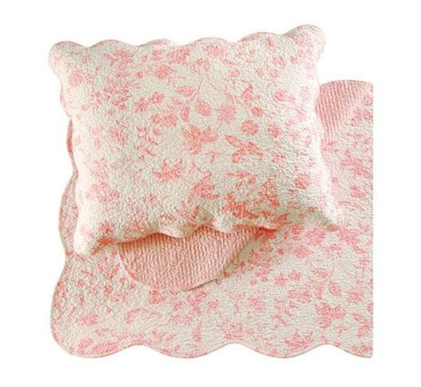 Pink Toile Bedding by Brighton Pink Toile Luxury Quilted Bedding The Frog And