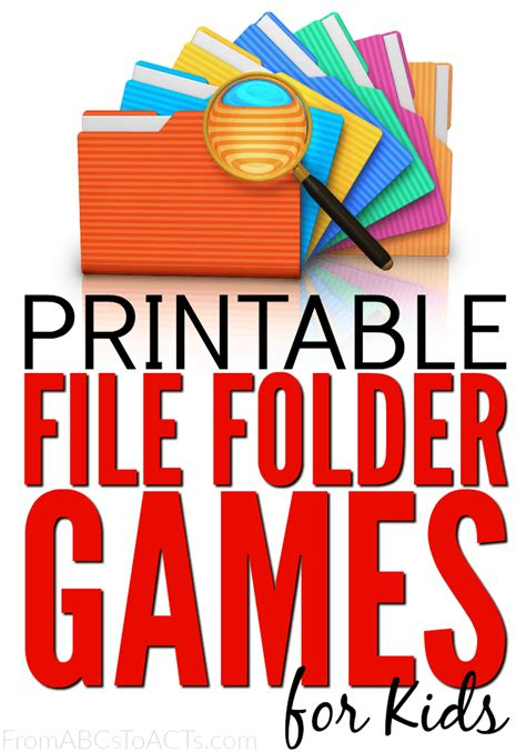 printable art buy 75 free printable file folder games for kids from abcs