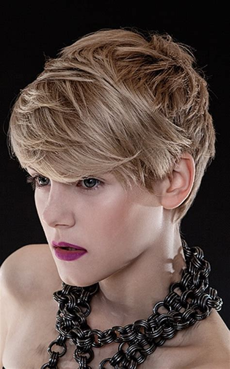 short hair with wispy front and sides short shag front and back photos short hairstyle 2013