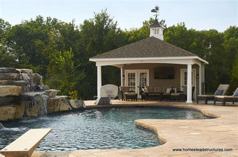 Pools For Backyards Avalon Pool House Homestead Structures
