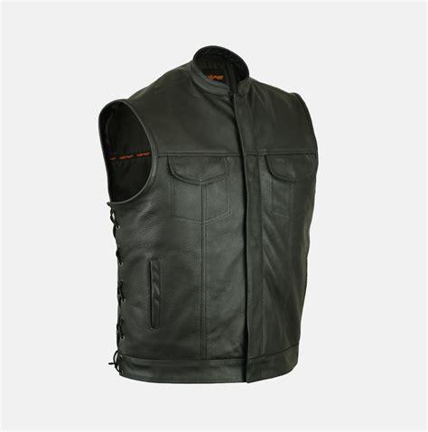 leather vest s of anarchy leather vest 2 gun pockets inside