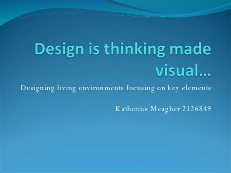 design is thinking made visual design is thinking made visual
