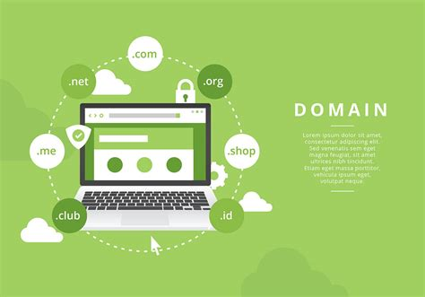 website domain illustration  vector