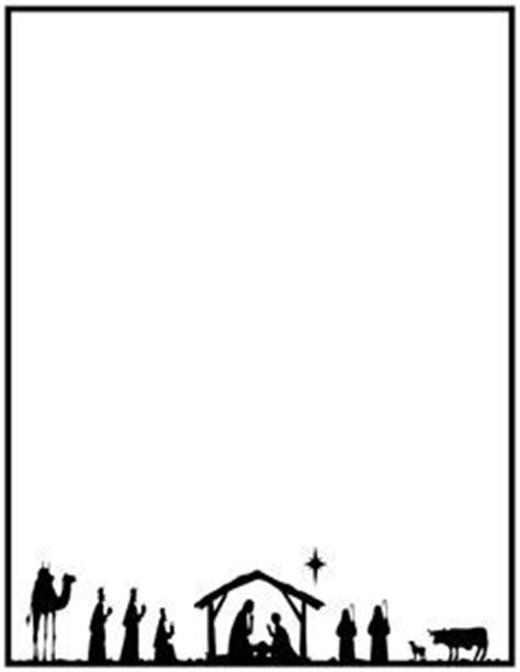 Free Printable Letter Borders Clipart Best Nativity Letter Template
