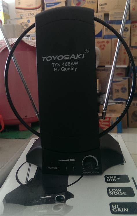 Toyosaki Antenna Indoor Tys 468 jual antenna tv indoor toyosaki tys 468aw booster sinyal