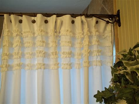 shabby chic curtains shabby chic cottage beach washed white cotton ruffles
