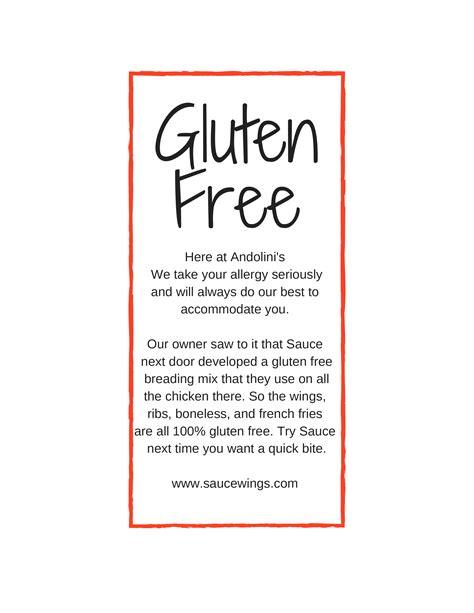 gluten free buffet menu gluten free menu at andolini s andover andolinis restaurant