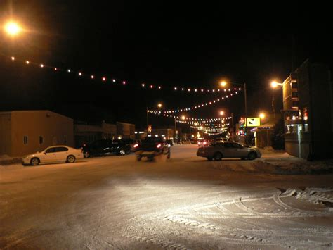 circle mt christmas lights on main street photo