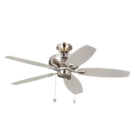 monte carlo ceiling fan monte carlo designer max 52 in brushed steel silver