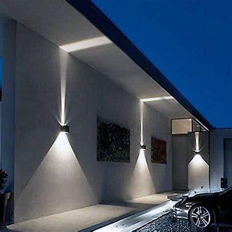 lade a led da esterno a parete applique cubo led impermeabile da esterno da parete in