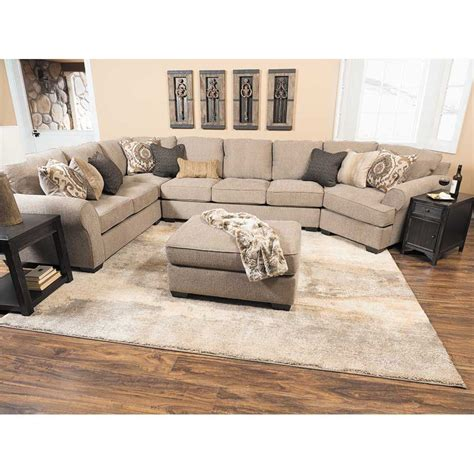 sectional sofa with cuddler pantomine 4pc with raf cuddler sectional k 391rcud 4pc