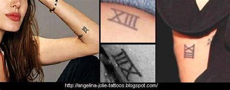 angelina jolie tattoo roman numeral angelina jolie tattoos