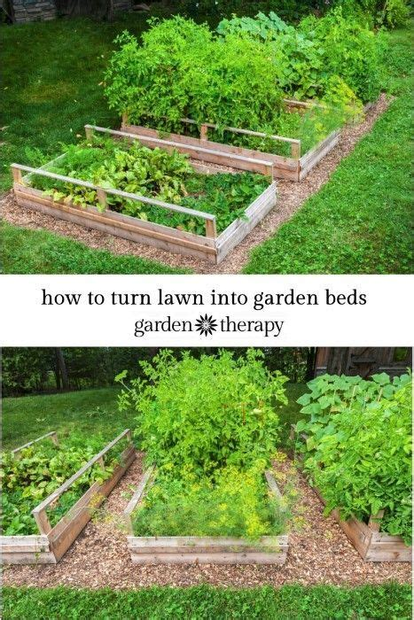 Vegetable Beds Converting Lawn Into Raised Garden Beds Without Waste
