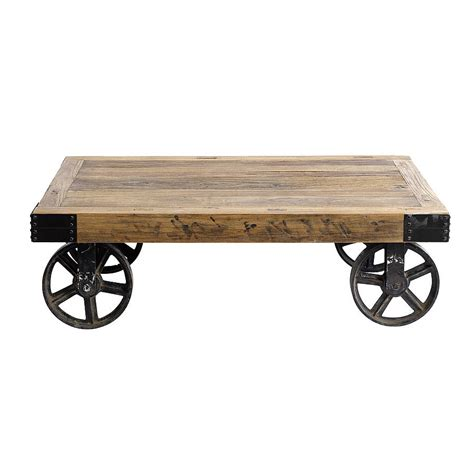 coffee table on wheels by bell blue notonthehighstreet
