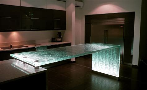 glass kitchen island 25 unique kitchen countertops