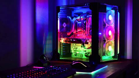 led lights pc lian li pc o8 with custom led ws2812 effects and